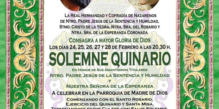 Solemne Quinario y Función Principal de Instituto