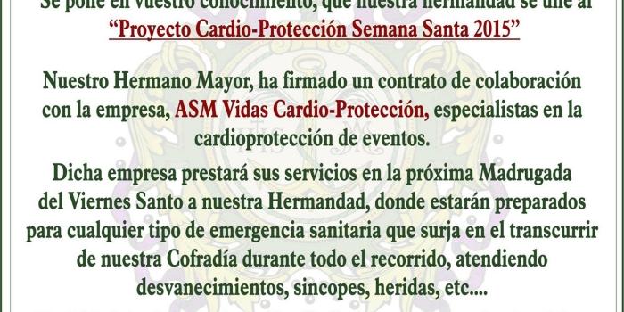 Firma del contrato de colaboración con A.S.M Vidas Cardio-Protección