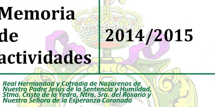 MEMORIA DE ACTIVIDADES CURSO 2014/15