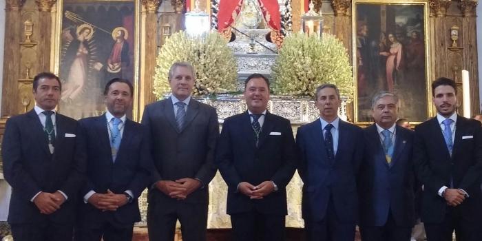 Asistencia corporativa a Procesión y Pontifical con motivo del L Aniversario de la Coronación Canónica de Ntra Sra de la Caridad