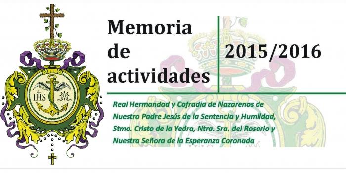 MEMORIA DE ACTIVIDADES CURSO 2015-2016