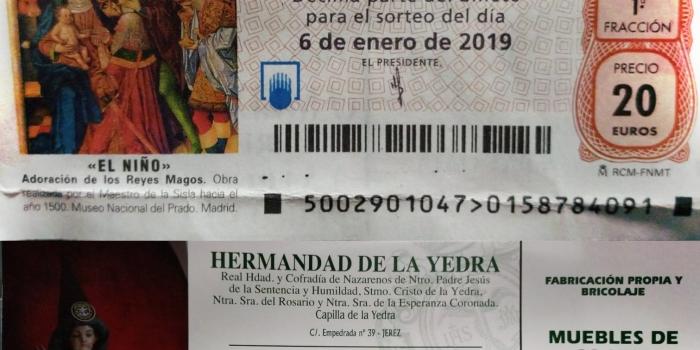 La Hermandad de la Yedra juega con el nº 15878 la Lotería del Niño 2019