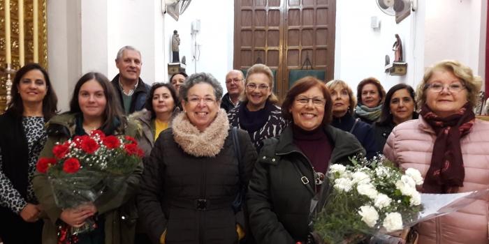 Visita de la Hermandad de Nuestra Señora de las Angustias