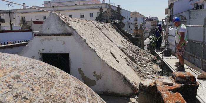 A buen ritmo las obras de reparación de la Capilla de la Yedra